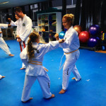 Mother & daughter training at the Double Bay Family Class