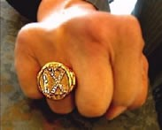FGMR ring on the famous fist of the First Grand Master