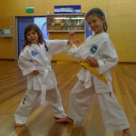 Juniors learning 3-Step Sparring